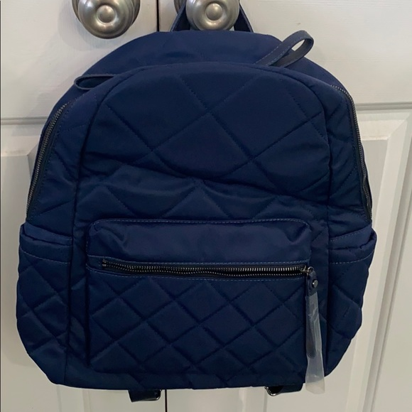 Sol and Selene Motivator Quilted Backpack, Navy